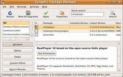 RealPlayerInstallationMethods?action=AttachFile&do=get&target=realplayer.synaptic.png