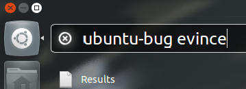 "Filing a bug with the ""Run Command"" screen"