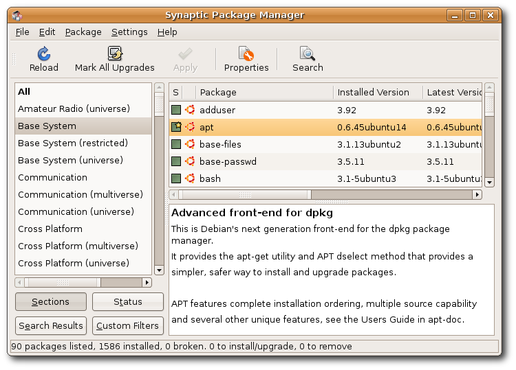 SynapticHowto?action=AttachFile&do=get&target=Synaptic-Package-Manager.png