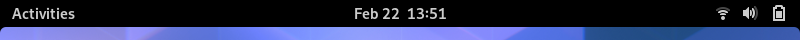 Górny pasek powłoki GNOME